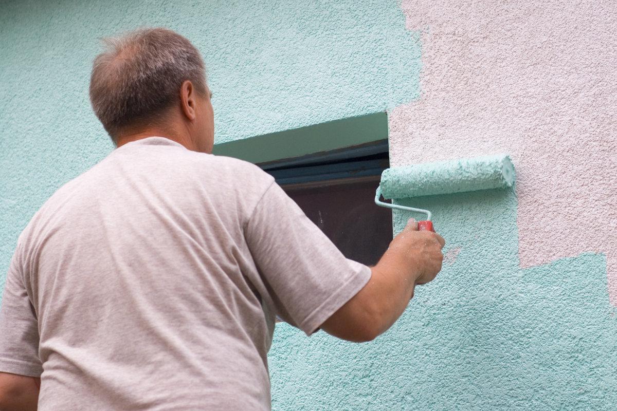 gevel schilderen vochtwerende verf